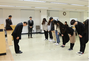 가산문화재단 장학금 수여식 사진